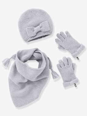 Girls-Accessories-Girls' Hat, Scarf& Mittens or Gloves Set