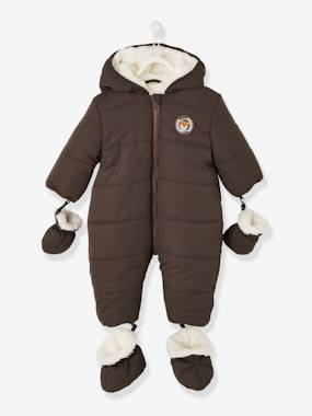 Baby-Lined & Padded Pramsuit, for Baby Boys