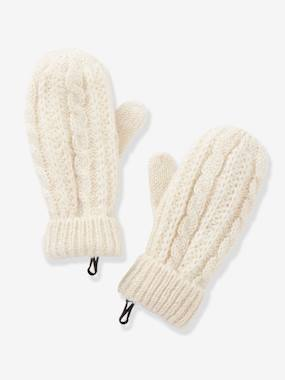 Girls-Accessories-Cable Knit Gloves, for Girls