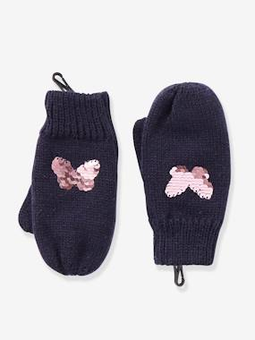 Girls-Accessories-Mittens with Reversible Sequins, for Girls
