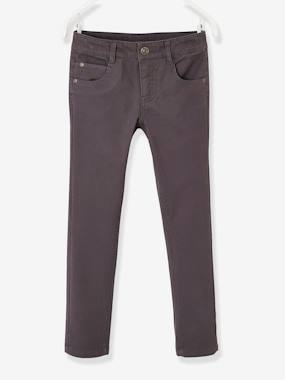 Boys-Trousers-Slim Leg Trousers in Piqué Knit, for Boys