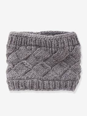 Girls-Accessories-Winter Hats, Scarves, Gloves & Mittens-Cable Knit Snood, for Girls