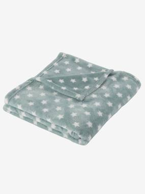 Bedding & Decor-Baby Bedding-Blankets & Bedspreads-Children's Microfibre Blanket, Star Print