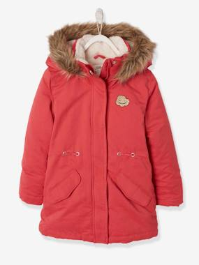 Schoolwear-Girls-Parka with Hood & Iridescent Patch, for Girls