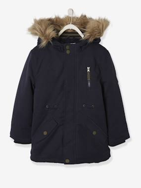 Vertbaudet Collection-Boys-Plush-Lined Parka for Boys