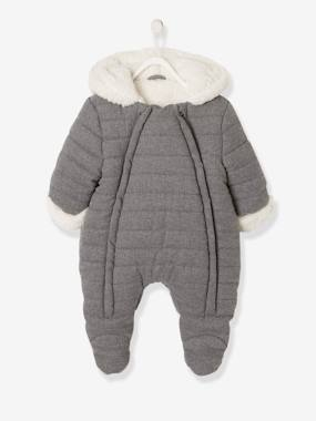 Baby-Pramsuit with Full-Length Double Opening, for Babies