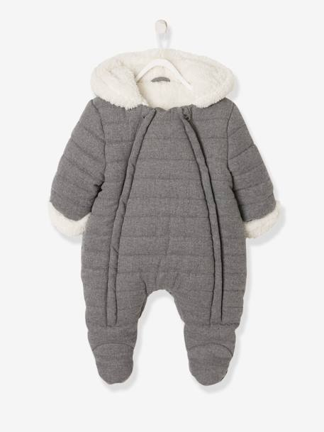 best selling official store high quality Pramsuit with Full-Length Double Opening, for Babies - grey dark ...