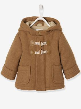 Coat & Jacket-Woollen Fabric Duffle Coat, Lined and Padded, for Babies