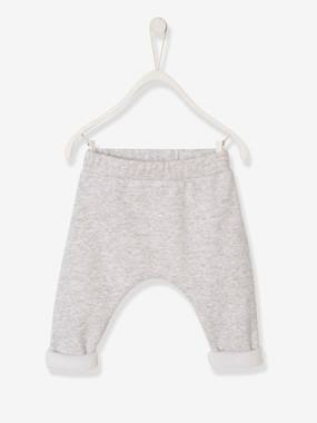 Baby-Trousers & Jeans-Little Bear Trousers in Cotton Fleece, for Newborn Babies