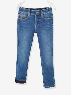 Boys-Jeans-Slim Leg Jeans with Fleece Lining for Boys