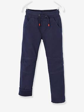 Vertbaudet Collection-Boys-Trousers with Fleece Lining, for Boys