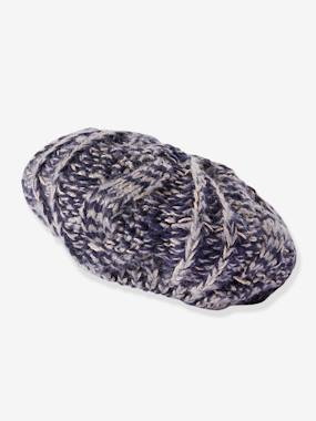 Girls-Accessories-Hair Accessories-Knitted Beret in Shimmery Yarn, for Girls