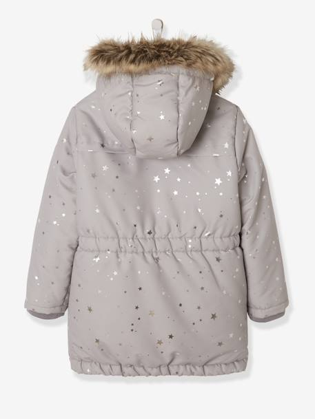 fa2cef7795 3-in-1 Parka with Motif on the Back, for Girls - grey medium all over  printed, Girls