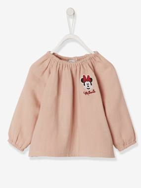 Baby-Blouses & Shirts-Cotton Gauze Blouse for Girls, Minnie® by Disney