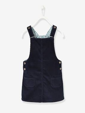 Vertbaudet Collection-Girls-Corduroy Dungaree Pinafore Dress, for Girls
