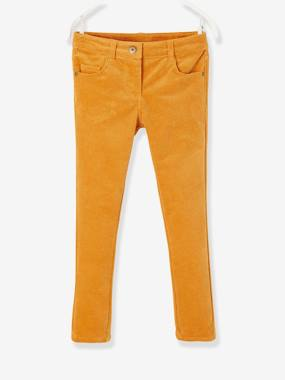 Vertbaudet Collection-Girls-Trousers-Slim Leg Cord Trousers, for Girls