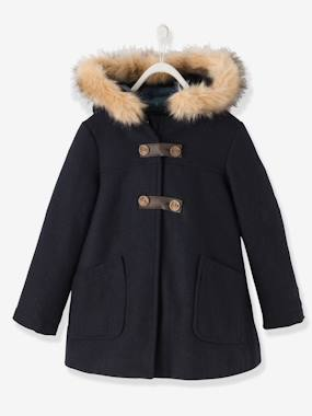 Girl-Girls' Wool Mix Coat