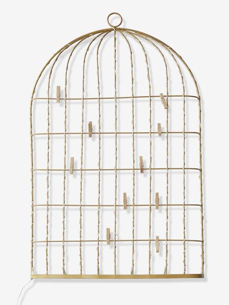 Picture in Light-Up Metal, Bird Cage YELLOW MEDIUM SOLID - vertbaudet enfant