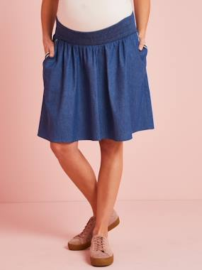 Maternity-Skirts-Maternity Skirt in Light Denim