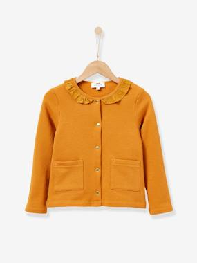 Vertbaudet Collection-Girls-Cardigans, Jumpers & Sweatshirts-Girl's fleece cardigan