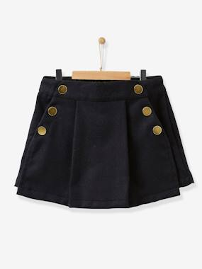 Vertbaudet Collection-Girls-Skirts-Girl's woollen skorts