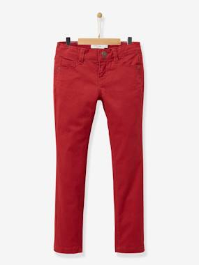 Vertbaudet Collection-Girls-Girl's slim-fit twill trousers