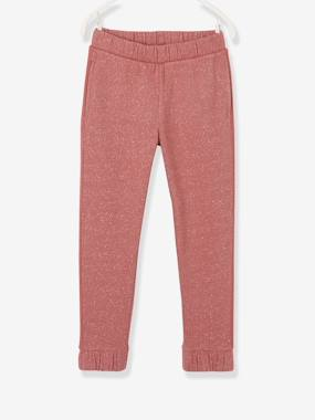 Vertbaudet Collection-Girls-Sportswear-Joggers with Side Stripes for Girls