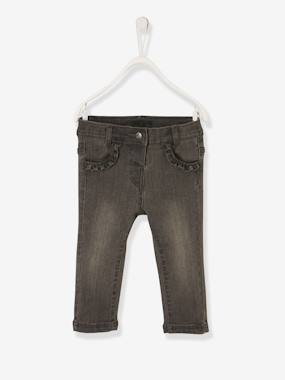 Baby-Trousers & Jeans-Jeans for Baby Girls, Press-Stud Fastening