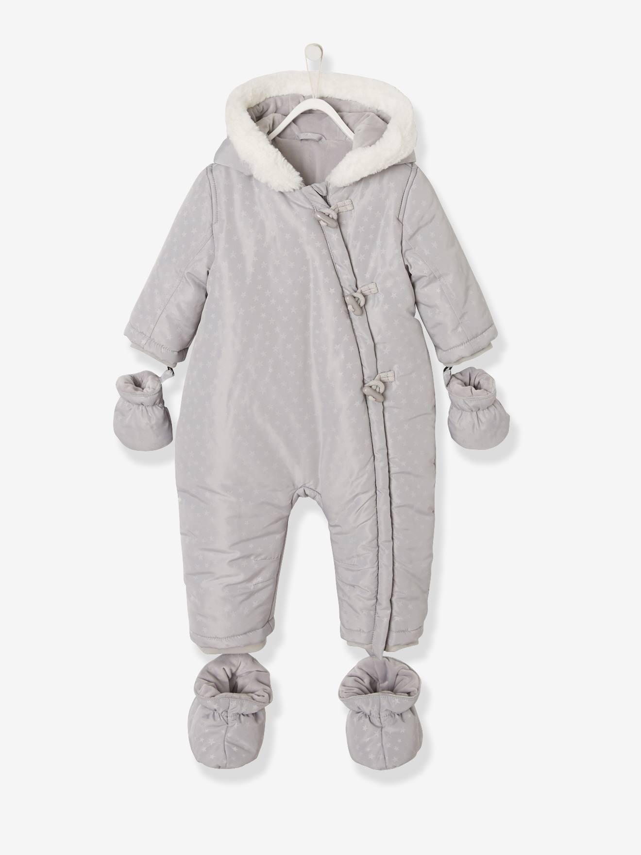 latest discount huge discount best deals on Pramsuit with Plush Lining & Padding for Baby Boys - grey dark all ...