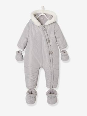Baby-Outerwear-Snowsuits-Pramsuit with Plush Lining & Padding for Baby Boys