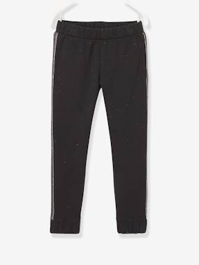 Vertbaudet Collection-Girls-Trousers-Joggers with Side Stripes for Girls