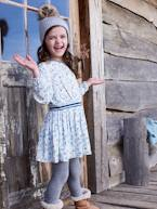 Printed Dress, with Iridescent Details, for Girls  - vertbaudet enfant