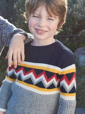 Boys-Cardigans, Jumpers & Sweatshirts-Jacquard Jumper, for Boys