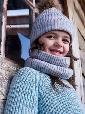 Girls-Accessories-Winter Hats, Scarves, Gloves & Mittens-Beanie + Snood + Gloves Set, for Girls