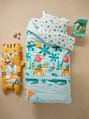 Bedding & Decor-Child's Bedding-Duvet Covers-Duvet Cover + Pillowcase Set for Children, Crocodile Theme