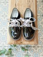 Leather Derby Shoes with Message on Laces for Girls  - vertbaudet enfant