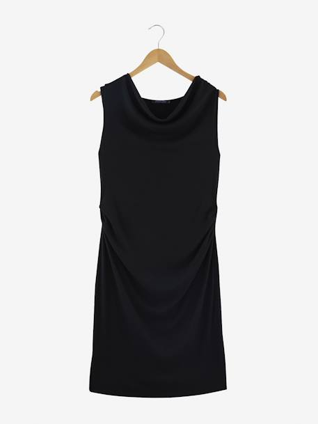 Ribbed Knit Maternity Dress BLACK DARK SOLID+GREY LIGHT MIXED COLOR - vertbaudet enfant