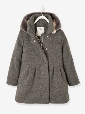 Vertbaudet Collection-Girls-Woollen Coat for Girls