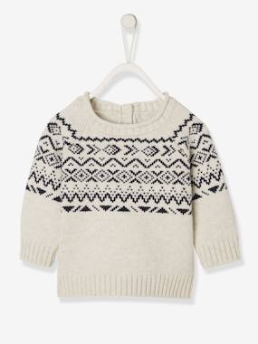 Baby-Jacquard Knit Jumper, For Baby Boys