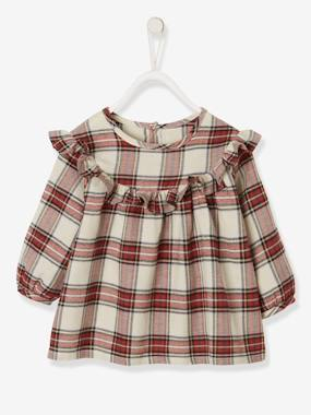 Baby-Blouses & Shirts-Blouse with Ruffles, for Baby Girls