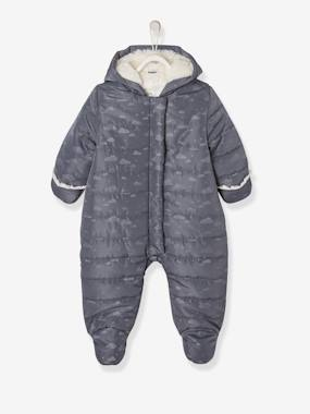 Baby-Outerwear-Snowsuits-Full-Length Opening Pramsuit, Warm Lining, for Babies