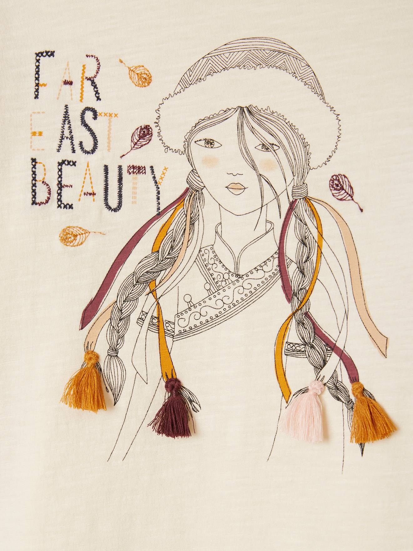 tassel wall decor.htm fancy top  with embroideries   tassels  for girls white light solid  fancy top  with embroideries   tassels
