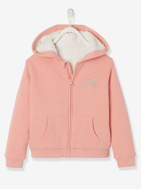 Mid season sale-Sweat à capuche fille doublé sherpa