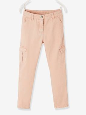Vertbaudet Collection-Girls-Trousers-Cargo-Style Trousers, for Girls