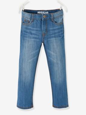 Boys-Trousers-Indestructible Straight Cut Jeans, for Boys