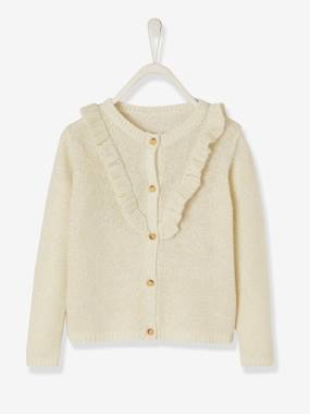 Girls-Cardigans, Jumpers & Sweatshirts-Cardigan with Zip for Girls