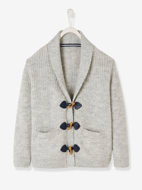 Boys-Cardigans, Jumpers & Sweatshirts-Cardigans-Shawl Collar Cardigan, for Boys