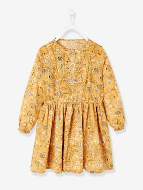 Vertbaudet Collection-Girls-Dresses-Dress with Flower Print, for Girls