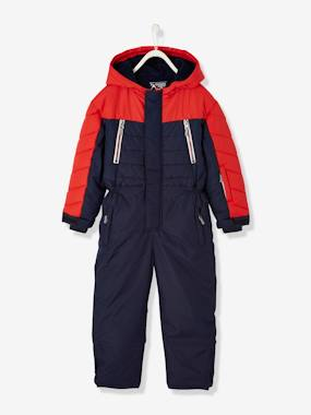 Vertbaudet Collection-Boys-Ski Jumpsuit with Fleece Lining, for Boys