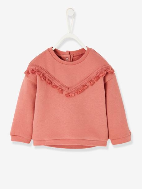 Ensemble molleton bébé fille pantalon et sweat DENIM BRUT - vertbaudet enfant